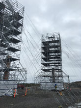 Stair towers installed for Nexans Norway on the 2016 SOBI Project.