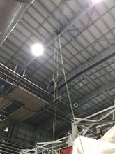 When you need 9 lights changed, 110 feet from the floor, we send our Tactical Access Team.